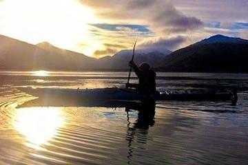 Kayak on water in Kodiak, Alaska
