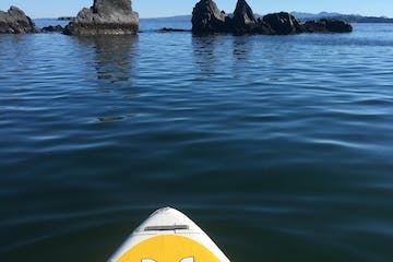 Kayak on water in Kodiak, Alaska