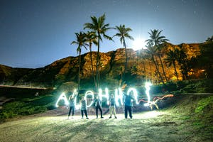 Aloha from Hawaii at Night