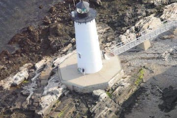 lighthouse from air