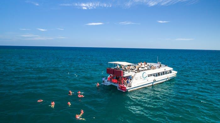 visitantes nadando en Los Cabos