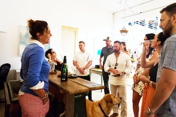 Renee ReBell leading food tour in Sausalito, CA