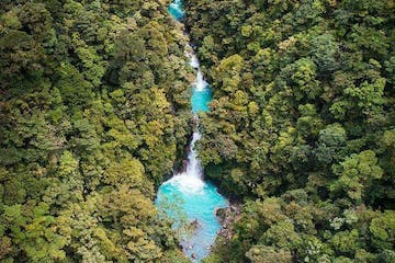 Aerial photo of Rio Celeste Waterfall