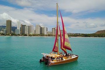 catamaran in Waikiki