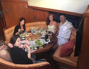 SV Shalimar Sail Oahu Buffet lunch