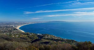 Aerial View Ocean LA