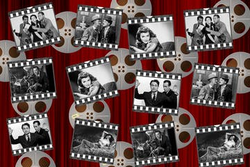 old movie collage