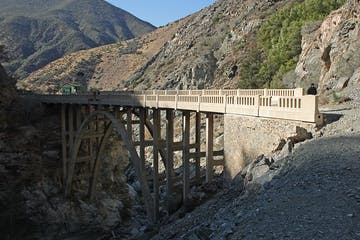bridge to nowehere san gabriel mountains