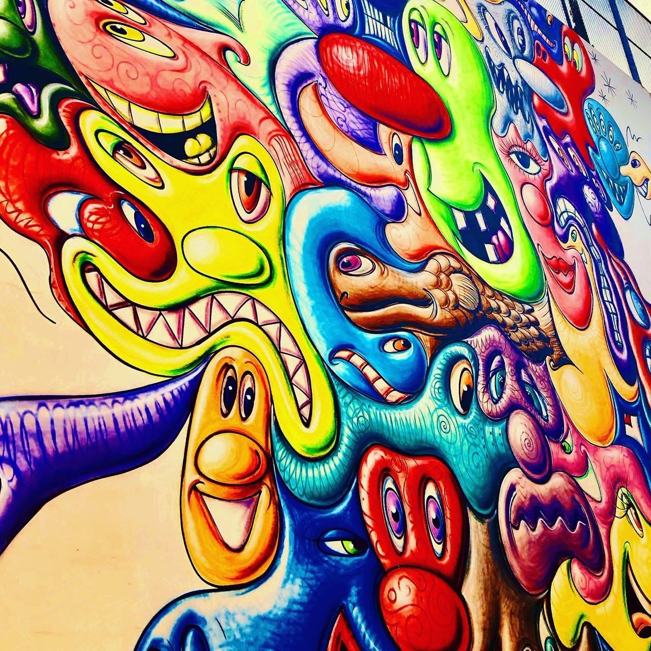 Mural on Celebrity Bike Tour