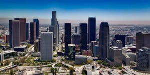 Los Angeles Aerial Skyline