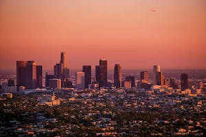 LA Skyline at Sunset