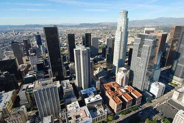 Downtown LA Aerial View