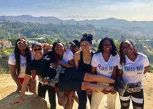 Group photo on Hollywood Hills Hike