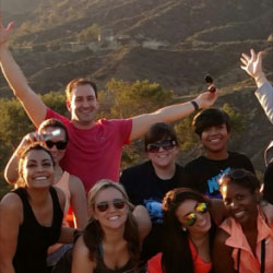 Hikers on Hollywood Sign Hike