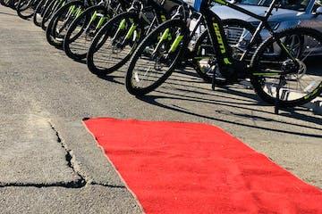 bike tour lineup red carpet