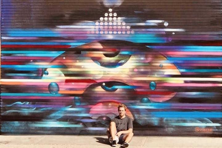 LA graffiti wall downtown