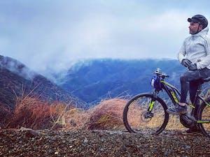 man biking in Malibu