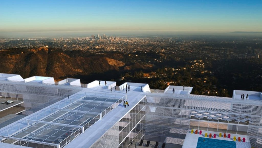 a view of the hollywood hills from the hollywood sign hotel