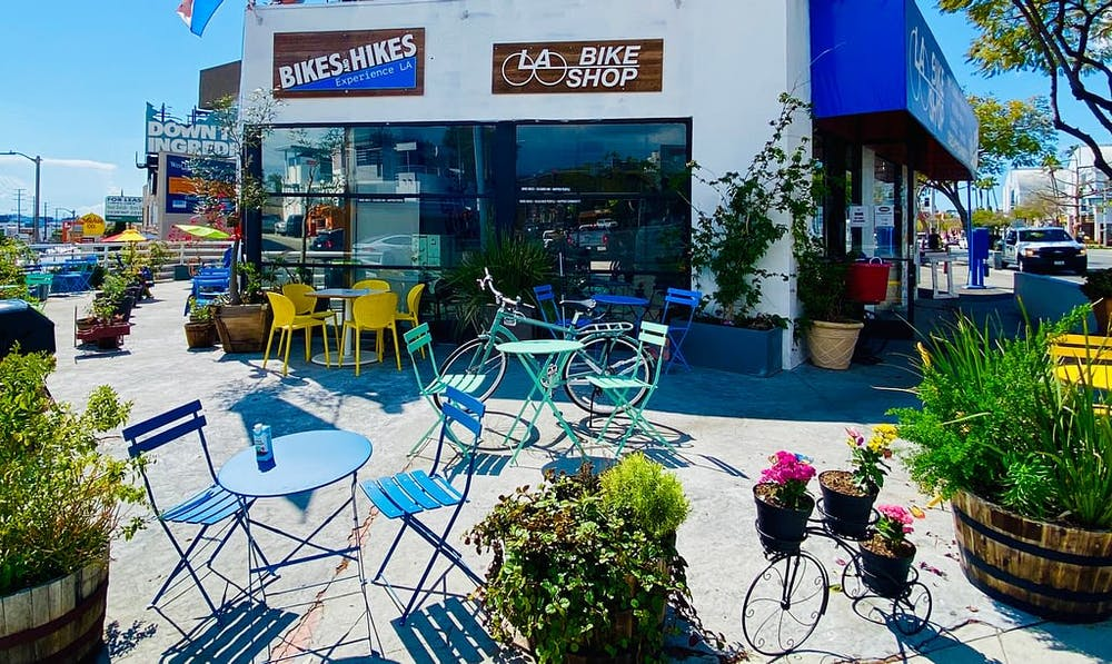 outdoor monarch cafe bike shop los angeles