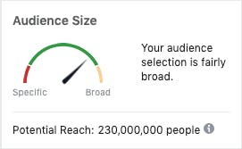 Facebook Ads Audience Size Meter