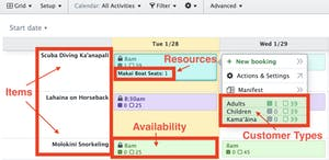 FareHarbor Dashboard Terms screenshot
