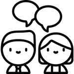 icon of people talking