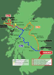 Mapa Isla de Skye