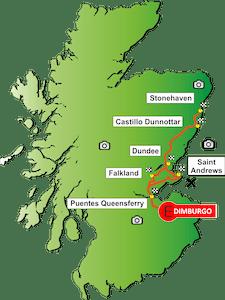 Mapa del tour Saint Andrews