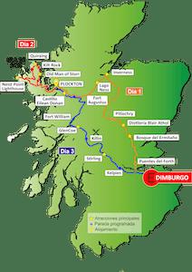 Mapa Tour Isla Skye