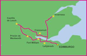 Mapa Ruta Outlander