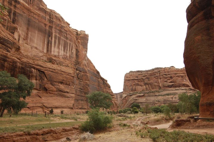 View of wet Canyon walls