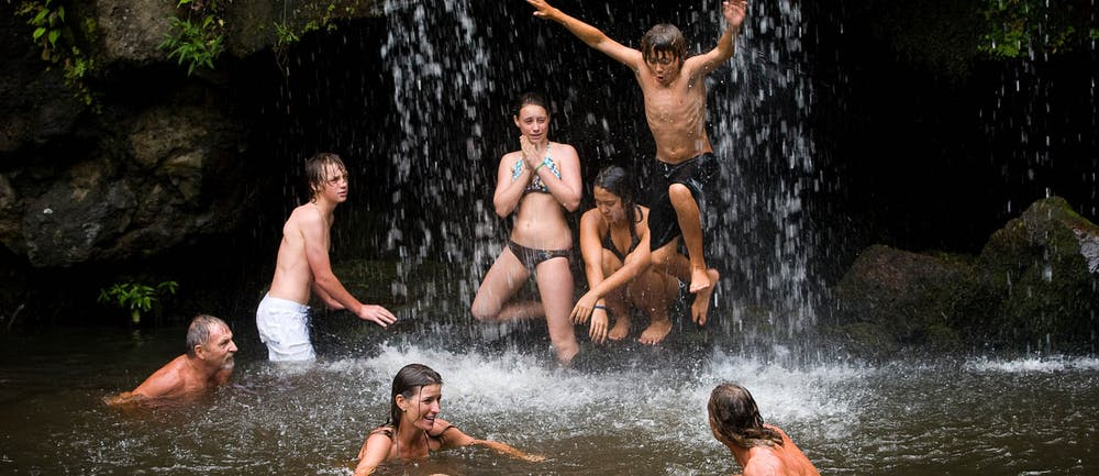 kohala waterfall swimming