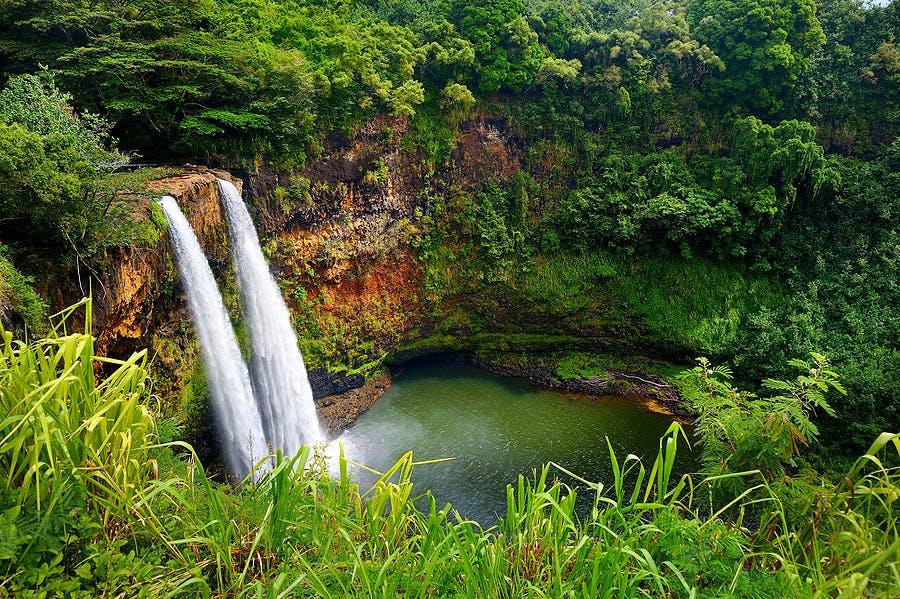 Kauai Twin Waterfalls