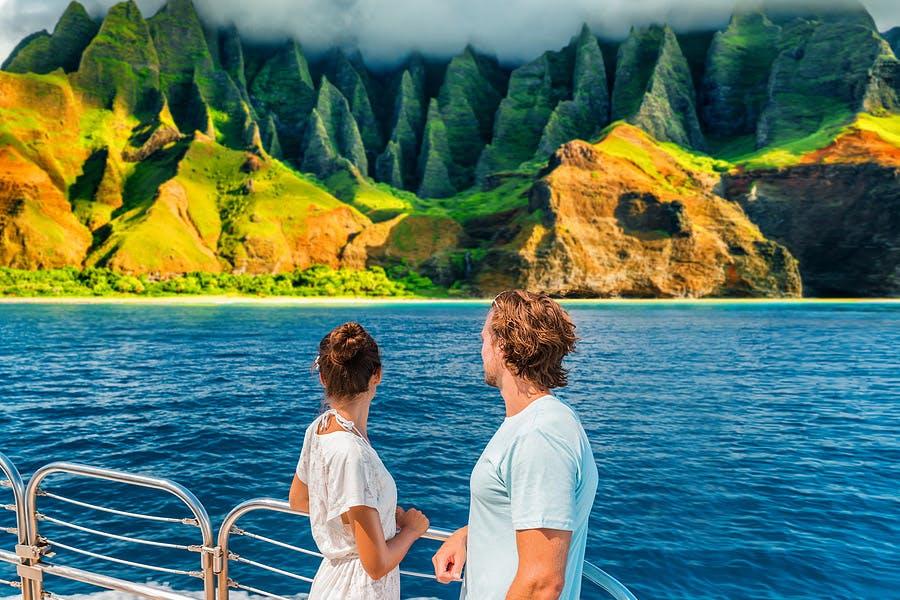 Na Pali Coastline from the sea
