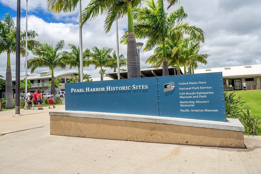 pearl harbor historic sites sign