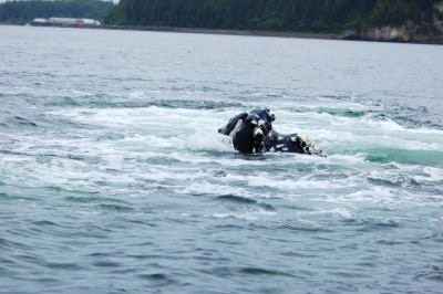 Humpback whale breach in Hoonah Alaska