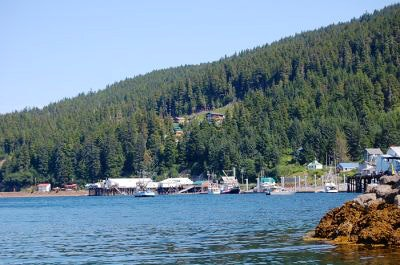 A view of the fishing village in Hoonah