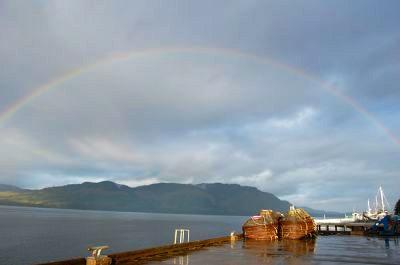 A rainbow in Hoonah