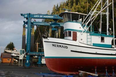 The Mermaid docked in Hoonah