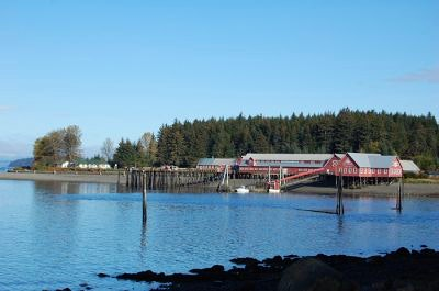 Cannery building in Icy Strait Point