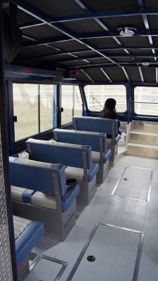 The interior of the Hoonah Bound