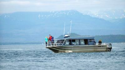Hoonah Bound takes passengers on a whale watching tour