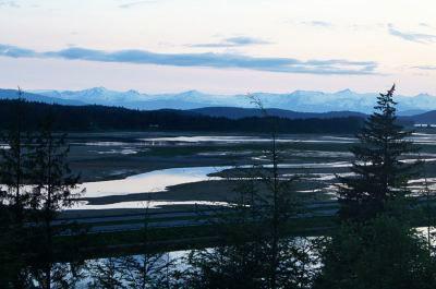 A calm, peaceful morning in Hoonah, Alaska