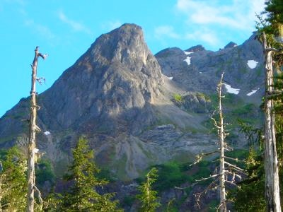 A view of an Alaskan mountain
