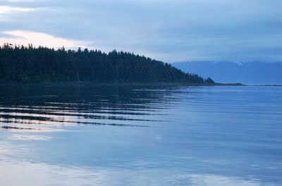 A quiet morning on the bay in Hoonah