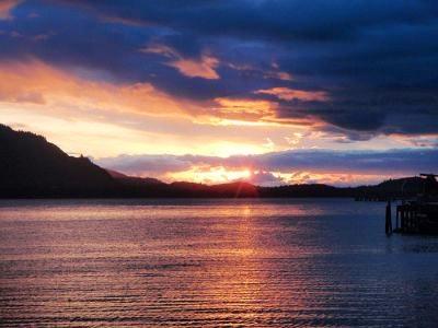 A beautiful sunrise in Hoonah Alaska