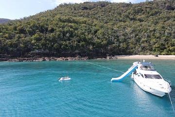 Platinum luxury yacht anchored in Whitsundays Islands