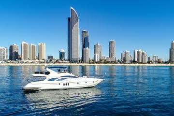 Luxury yacht Platinum cruising the Gold Coast