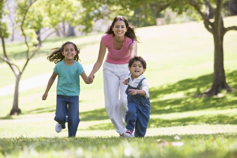 Mom-kids-playing-canstockphoto1709890