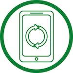 green phone in circle icon
